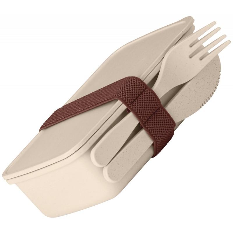 Lunch box publicitaire en fibre de bambou
